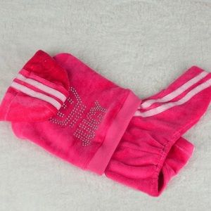 NWT pink velvet dog suit